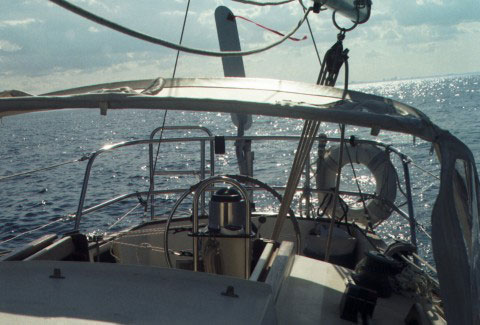 Cockpit with windvane